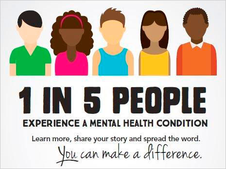 1 in 5 People experience a Mental Health Condition